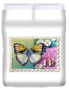 14 Cent Butterfly Stamp Duvet Cover
