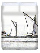 Fishing Vessel In The Arabian Sea Duvet Cover