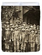 Hine Child Labor, 1911 Duvet Cover