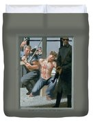 14. Jesus Is Nailed To The Cross / From The Passion Of Christ - A Gay Vision Duvet Cover
