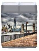 River Thames View Duvet Cover