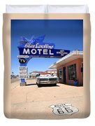 Route 66 - Blue Swallow Motel Duvet Cover