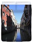 Narrow Canal Venice Italy Duvet Cover
