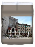 Views Of Split Croatia Duvet Cover