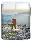 A Summit Intern Hikes The Northwest Duvet Cover