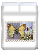 15 Cent Butterfly Stamp Duvet Cover