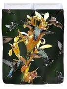 15 Hummingbirds Duvet Cover