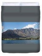 Lake With Mountain Range Duvet Cover
