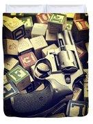 154 Bullets In 5 Minutes Duvet Cover
