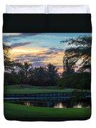 15th Green At Hollybrook Duvet Cover