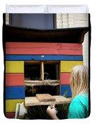 A Backyard Chicken Coop In Austin Duvet Cover