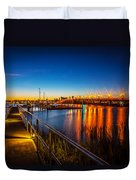 Bridge Of Lions St Augustine Florida Painted  Duvet Cover