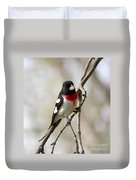 Rose Breasted Grosbeak Duvet Cover
