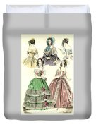 Women's Fashion, 1842 Duvet Cover