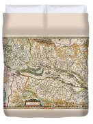 1644 Jansson Map Of Alsace Basel And Strasbourg Geographicus Alsatiasuperior Jansson 1644 Duvet Cover