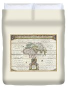 1650 Jansson Map Of The Ancient World Duvet Cover