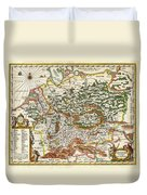1657 Jansson Map Of Germany Germania Geographicus Germaniae Jansson 1657 Duvet Cover