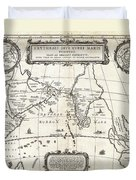 1658 Jansson Map Of The Indian Ocean Erythrean Sea In Antiquity Geographicus Erythraeansea Jansson 1 Duvet Cover
