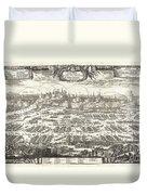 1697 Pufendorf View Of Krakow Cracow Poland Duvet Cover