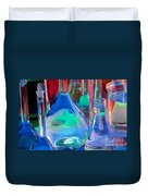 Laboratory Glassware Duvet Cover by Charlotte Raymond