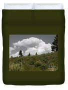 Cloudy With Green Duvet Cover