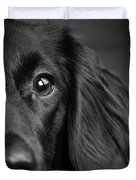 Portrait Of A Mixed Dog Duvet Cover