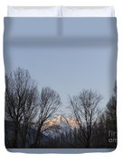 Snow-capped Mountain Duvet Cover