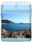 Tossa De Mar Costa Brava Duvet Cover