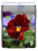 Viola Tricolor Heartsease Duvet Cover