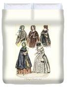 Women's Fashion, 1842 Duvet Cover