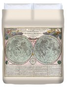 1707 Homann And Doppelmayr Map Of The Moon  Duvet Cover