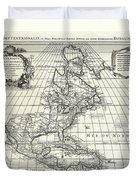 1708 De Lisle Map Of North America Covens And Mortier Ed Geographicus Ameriqueseptentrionale Covensm Duvet Cover