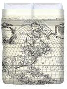 1708 De Lisle Map Of North America Duvet Cover