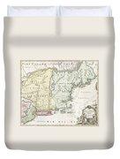 1716 Homann Map Of New England Duvet Cover
