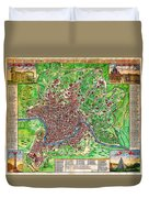 1721 John Senex Map Of Rome Geographicus Rome Sennex 1721 Duvet Cover