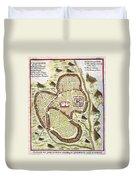 1730 Street Map Or Plan Of Jerusalem Geographicus Jerusalem Uk 1730 Duvet Cover