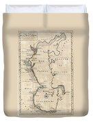 1730 Van Verden Map Of The Caspian Sea Duvet Cover