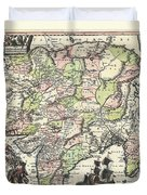 1740 Seutter Map Of India Pakistan Tibet And Afghanistan Duvet Cover