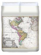 1746 Homann Heirs Map Of South And North America Duvet Cover