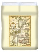 1747 Bowen Map Of The North Atlantic Islands Greenland Iceland Faroe Islands Maelstrom Geographicus  Duvet Cover