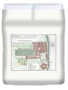 1750 Bellin Map Of Cape Town South Africa Duvet Cover