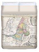 1750 Homann Heirs Map Of Israel  Palestine Holy Land  Duvet Cover