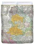 1761 Homann Heirs Map Of Westphalia  Duvet Cover
