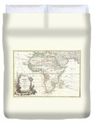 1762 Janvier Map Of Africa Duvet Cover