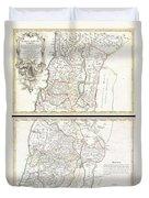1763 De Lisle Map Of The Holy Land Duvet Cover