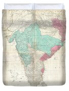 1768 Jeffreys Wall Map Of India And Ceylon Duvet Cover