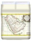 1771 Bonne Map Of Arabia Geographicus Arabia Bonne 1771 Duvet Cover