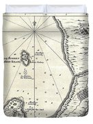 1773 Bellin Map Of The Cape Of Good Hope Capetown South Africa Duvet Cover