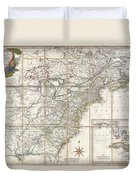 1779 Phelippeaux Case Map Of The United States During The Revolutionary War Duvet Cover