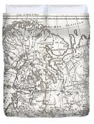 1780 Raynal And Bonne Map Of Northern Europe And European Russia Duvet Cover